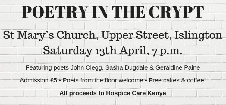 Poetry in the Crypt is back!
