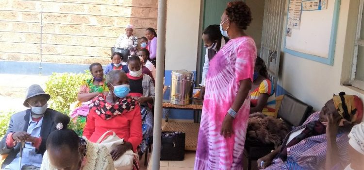 Patients supporting each other in Machakos